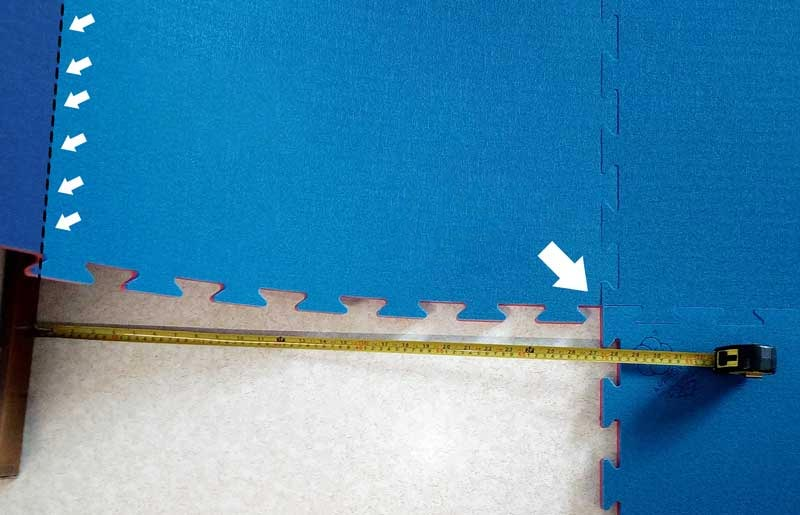 Tatami - Instructions for cutting along a wall
